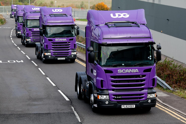 udg take delivery of 28 new scania trucks keltruck limited. Black Bedroom Furniture Sets. Home Design Ideas