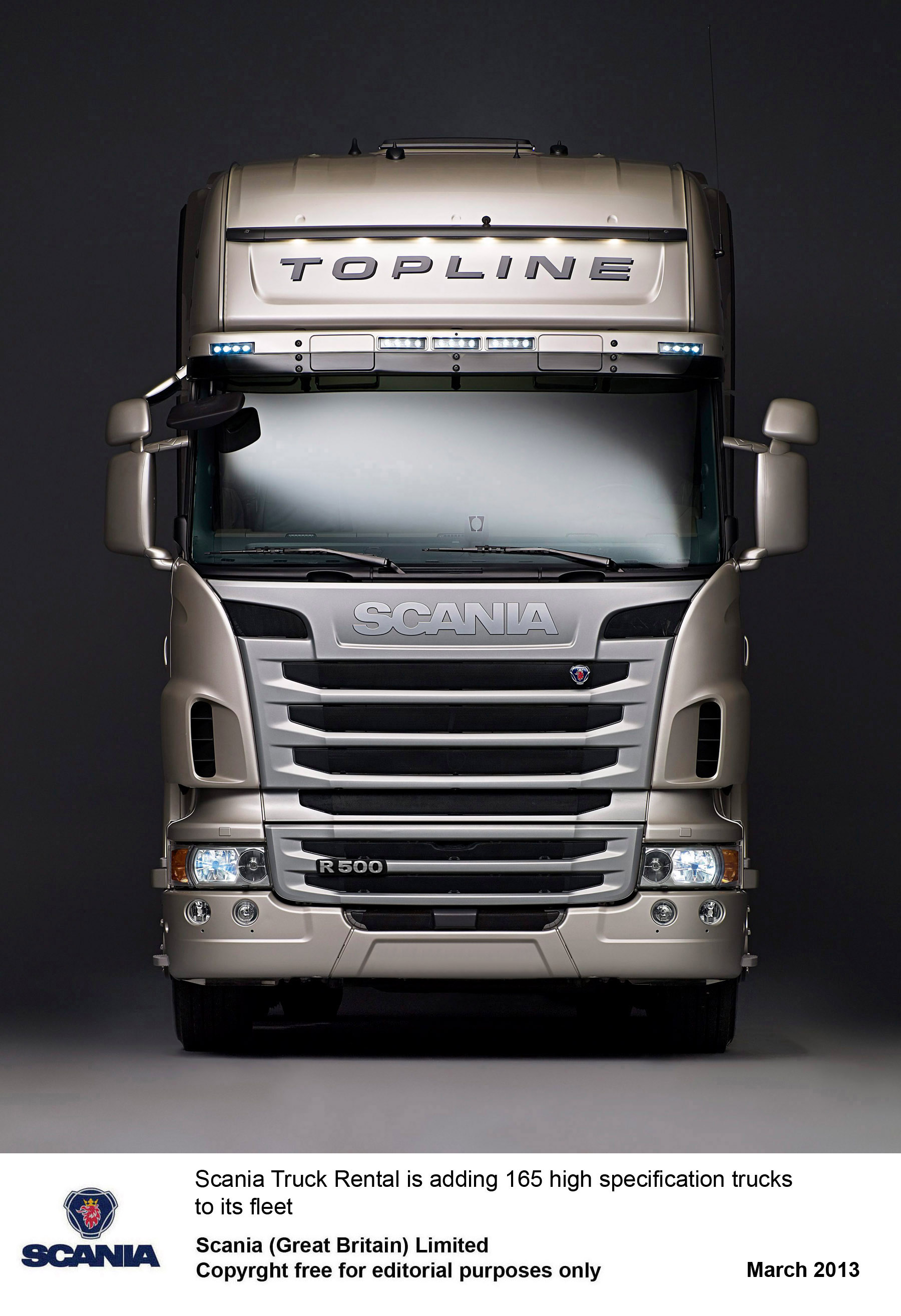 Image Of Scania Rental Truck Truck rental Scania Great BritainScania
