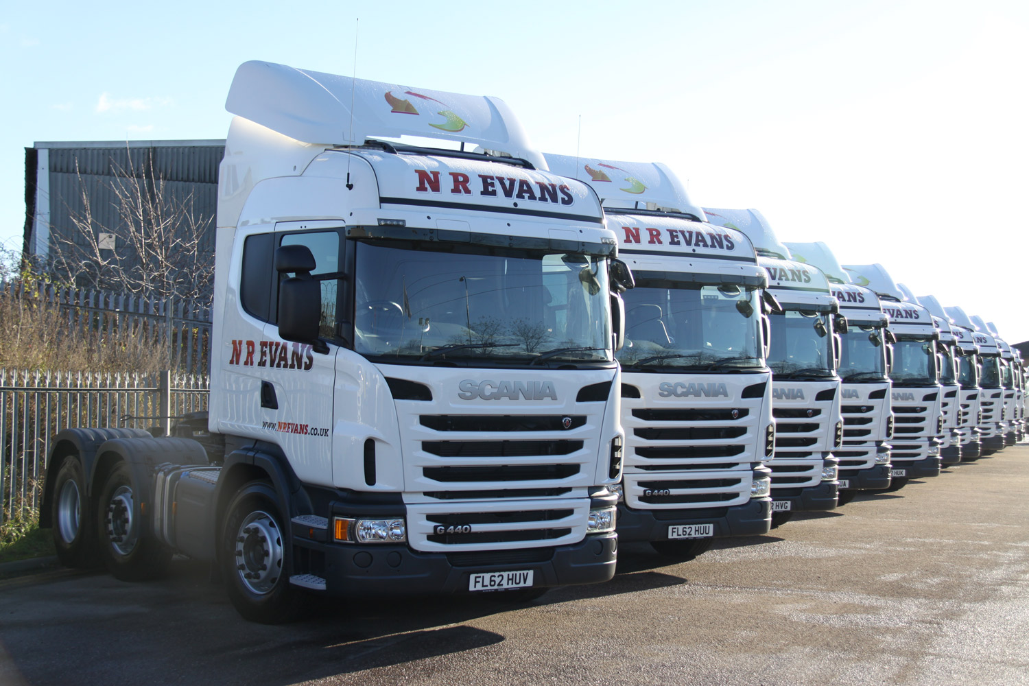 The twenty g440 6 2 4 mna highline scania trucks will form an integral part of the 150 strong fleet that nr evans operates throughout the uk