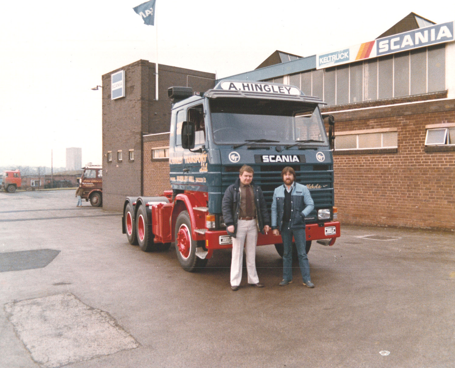 A. Hingley's first Scania from Keltruck (Alan Hingley & Neil Jones)