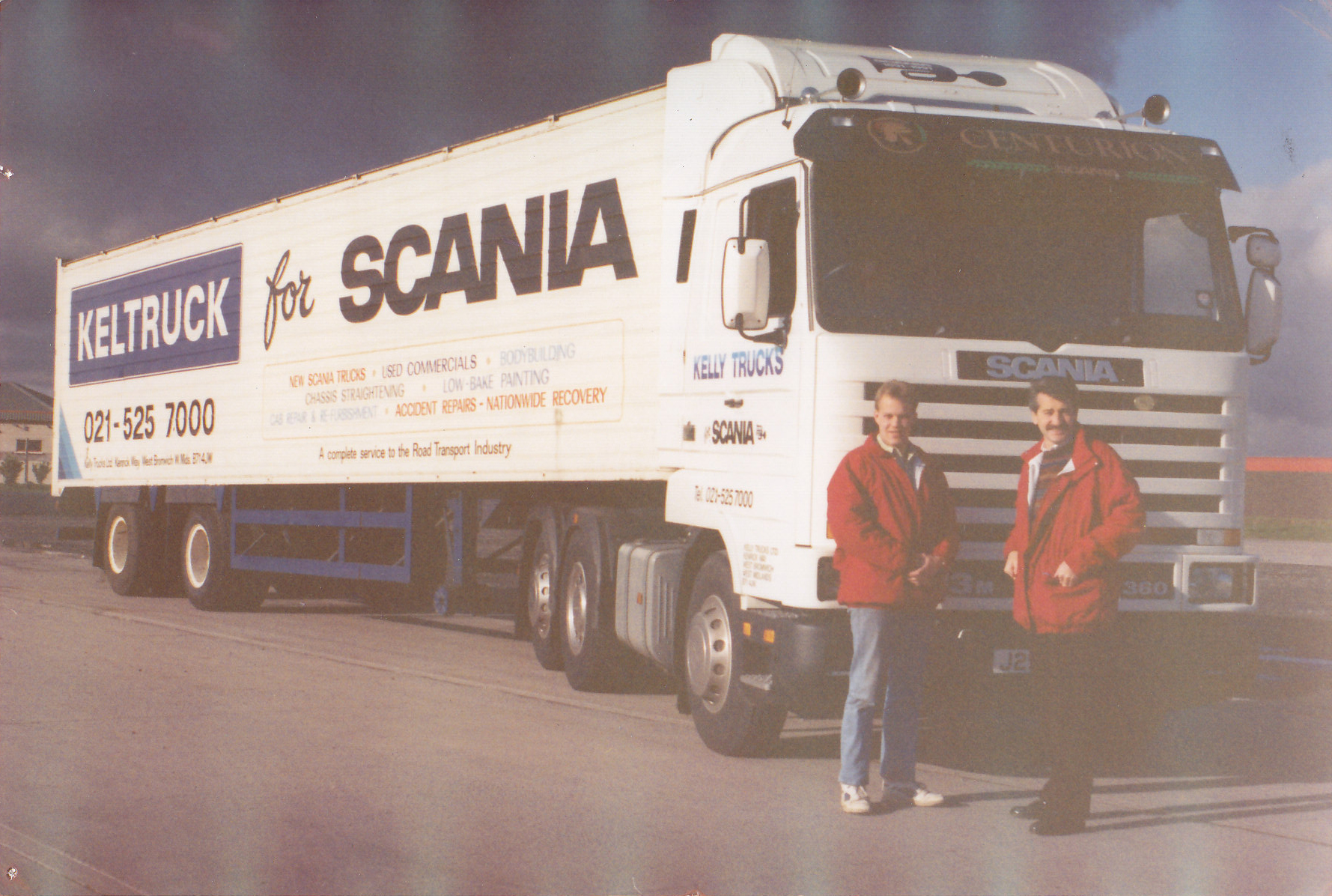 Chris Kelly & David Morgan begin another aid mission to eastern Europe in Keltruck's Scania R113 Streamline demonstrator.