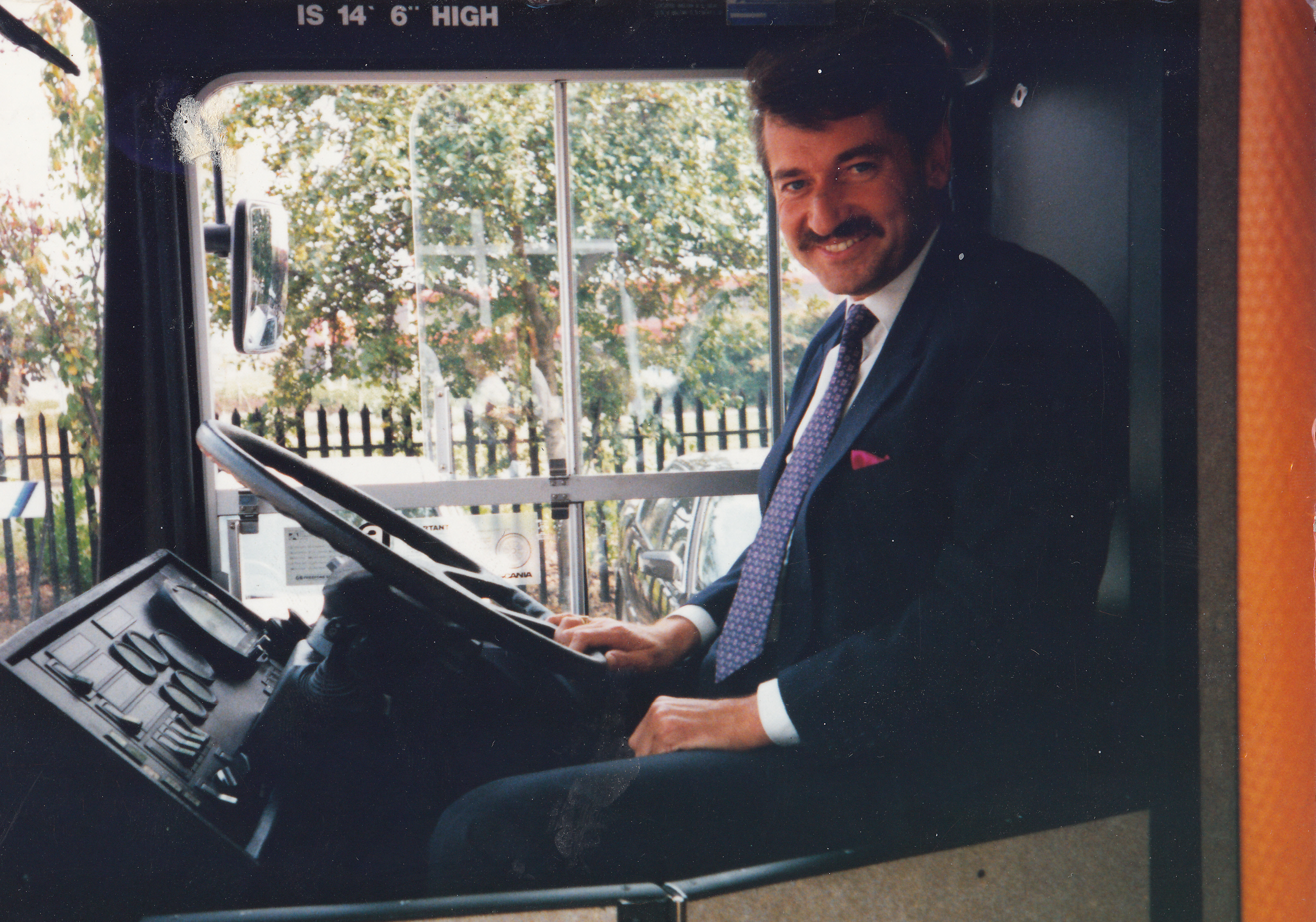 Chris Kelly, Keltruck's founder (then Managing Director & Dealer Principal) at the wheel.