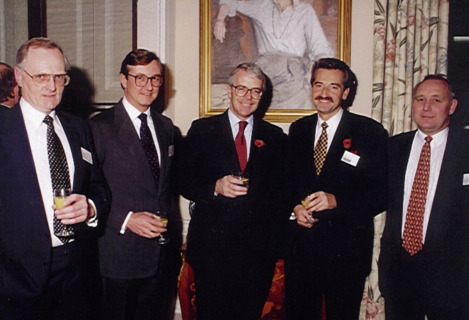 Chris Kelly of Keltruck and the late Alan R. Murrall of East Midland Commercials with Prime Minister John Major at 10 Downing Street.