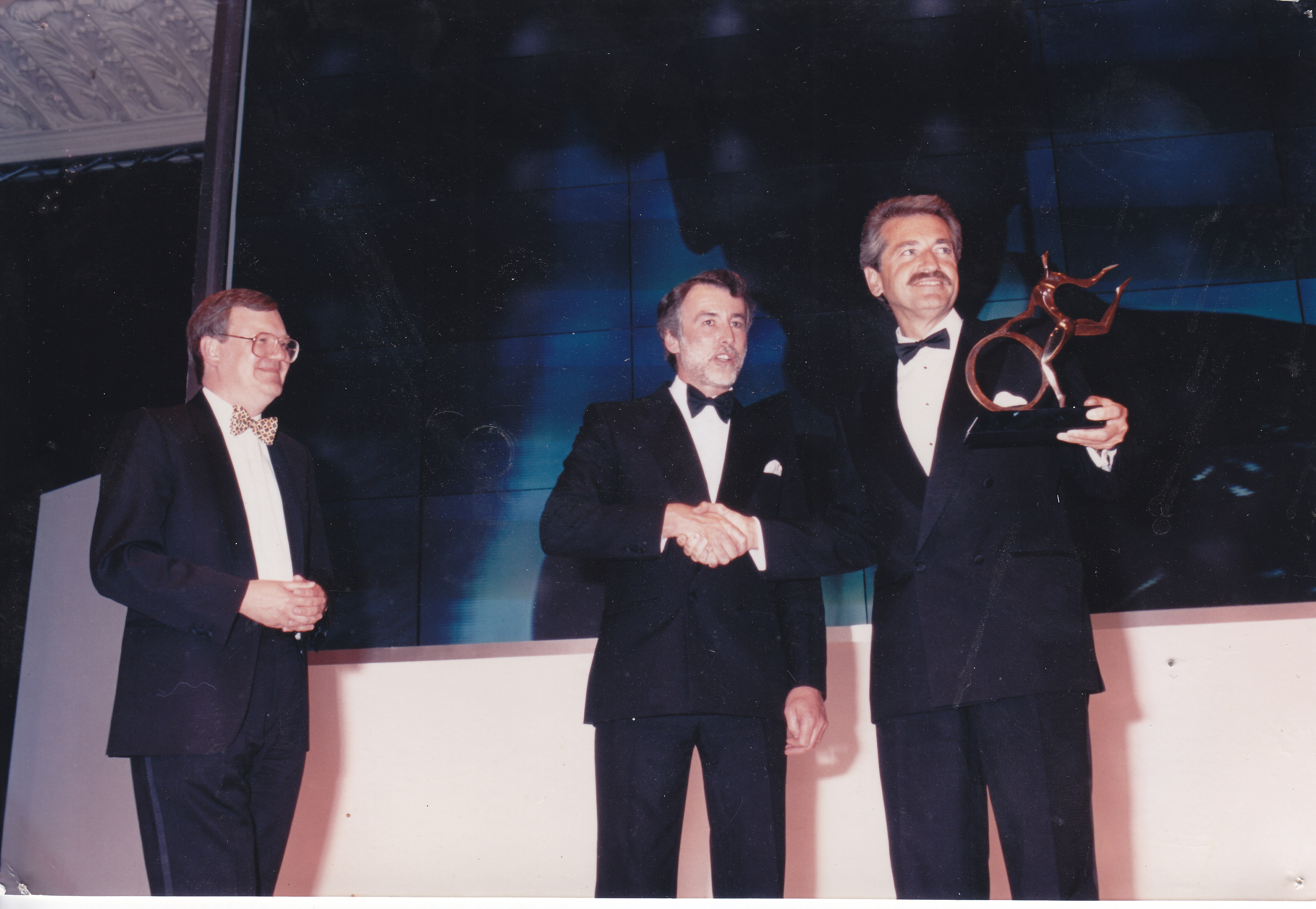 Chris Kelly at the Motor Transport Awards Dealer of the Year 1996