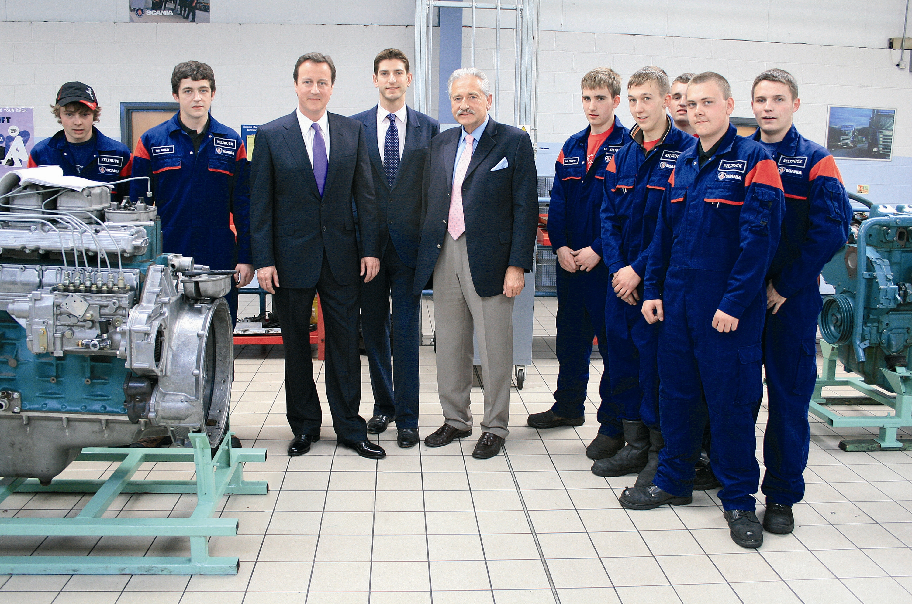The Rt. Hon. David Cameron MP meets Keltruck apprentices