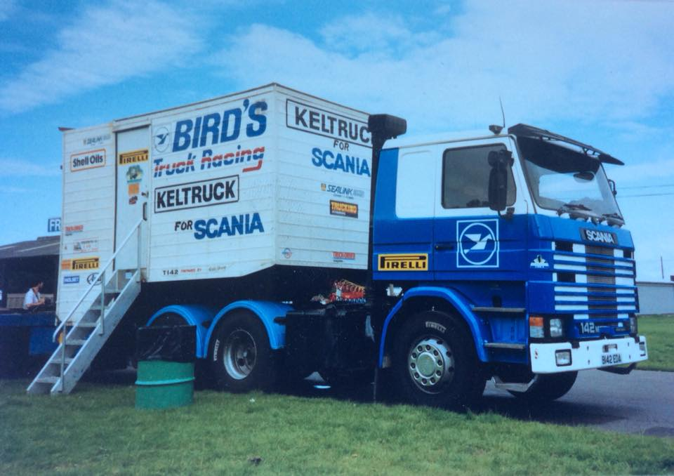Scania R142 (B142 EDA) truck racing support vehicle.