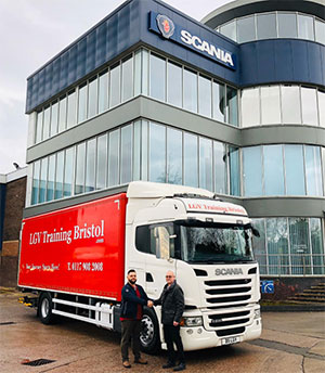 LGV Training used Scania truck supplied by Keltruck