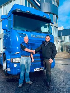DTF Transport used Scania truck supplied by Keltruck